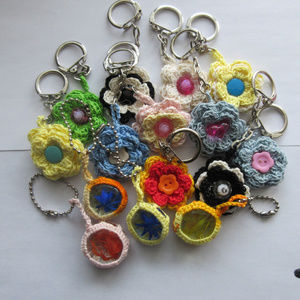 Set of 11 Handcrafted Key Chains, Accessories